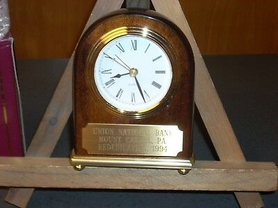Collector's Clock. Union National Bank. N.o.s. Rededication 1994. Mt. Carmel, Pa