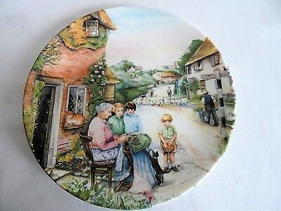 "Royal Doulton Old Country Crafts   Collectors Plate   "" The Lacemaker """