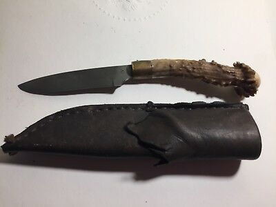Custom Bowie Knife - Mountain Man Knife Handmade w/ Stag Handle marked C C