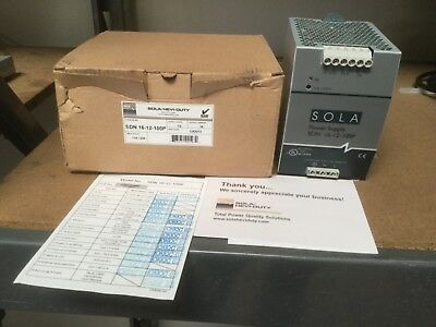 New SOLA HD SDN16-12-100P AC/DC Power Supply Single-OUT 12V 16A  Free Shipping