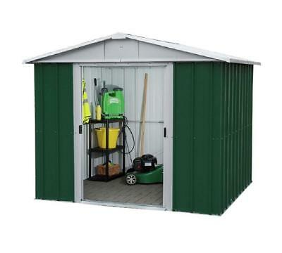 846 Customer Returned Yardmaster Apex Metal Shed - Max Size 7ft 11in x 6ft 5in
