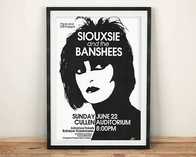 SIOUXIE AND THE BANSHEES PRINT: Concert Poster Art