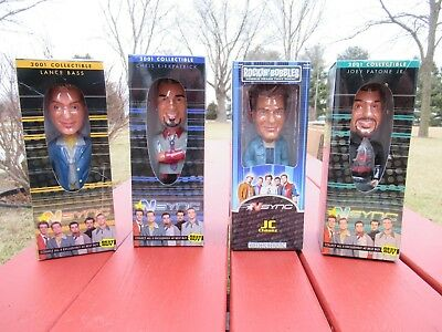 4 NSync Bobblehead Figurines 2001 & 2002 Lance Chris JC and Joey in box