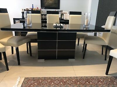 Designer ALF Italia  Extending Dining Table with  8 Chairs,  was £4600