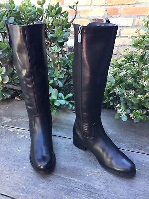 d29a78fd056 BLONDO VELVET RIDING Boot Brown Leather Wide Stretch Back Calf SZ 7 ...