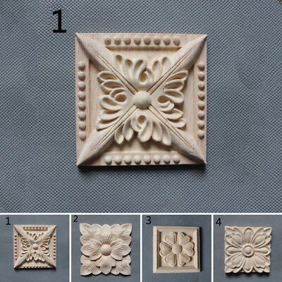 European Style Applique Carved Decal Woodcarving Wall Door Onlay Mouldings Decor