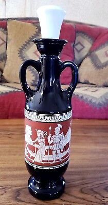 Vintage 1962 JIM BEAM Whiskey Decanter Bottle Egyptian Scene Sphinx Cleopatra