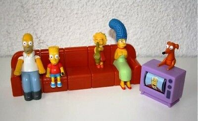 """NIB The Simpsons """"COUCH-A-BUNGA"""" 2008 Complete Set (6) dist. by Burger King"""