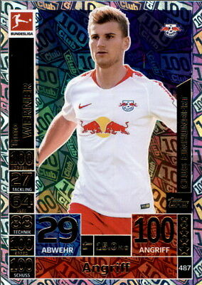 Topps Match Attax ACTION 18/19 - 487 - Timo Werner - Club Einhundert