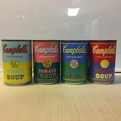Andy Warhol Campbell's Soup Cans. Full Set Of Limited Edition 50th Anv. Cans