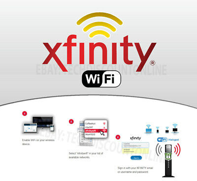 Xfinity WiFi Hotspot Internet Access Pass. 1 Year Account + Multiple Devices OK