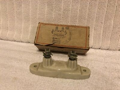 """Vintage """"TWIN TOWERS"""" Electric Fence Lighting Arrester Kit in original box"""