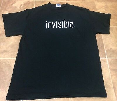 Clay Aiken Invisible 2004 Tour Men's Medium T-shirt Concert Band