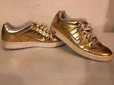 97ba8fb62faa89 Nike Women s Sneakers Court Tradition White And Gold 315161-711 size 8