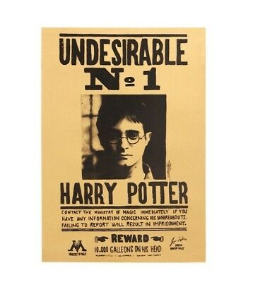 Harry Potter Vintage Movie Poster Undesirable No 1 Paper Wall Stickers Placard