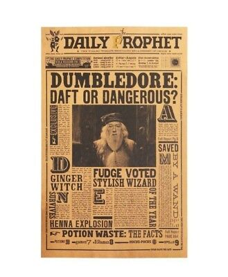 Harry Potter Movie Poster Albus Dumbledore Paper Wall Sticker Placard Home Decor