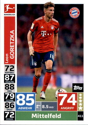 Topps Match Attax ACTION 18/19 - 411 - Leon Goretzka