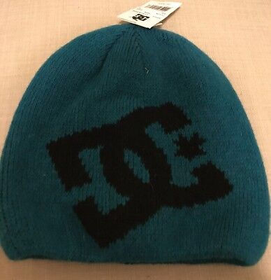 9e8578bcc80 DC Shoes Men s Big Star Beanie Teal Blue With Black Snow Cold Hat