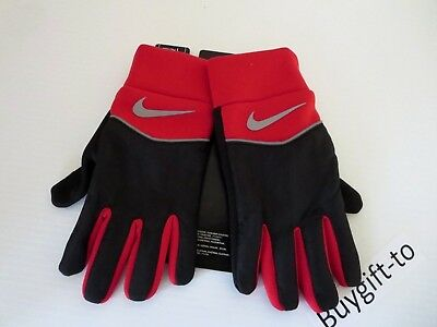 New Nike Therma-Fit Gloves Youth Boys Size Large Black/ Red