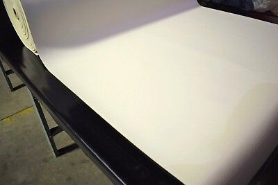 """3/16"""" Foam Backed Marine Vinyl Fabric Off White Auto Boat Upholstery 54"""" Wide"""