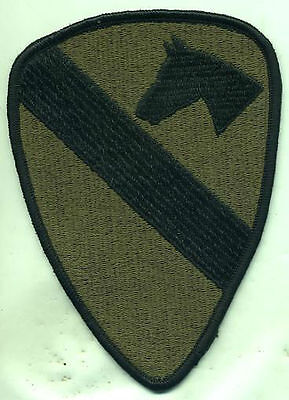 US Army 1st Cavalry Patch Subdued Iron On