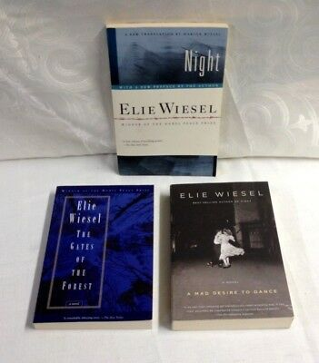 Elie Wiesel - Lot Of 3 Pb - Night, Gates Of The Forest, A Mad Desire To Dance-Vg