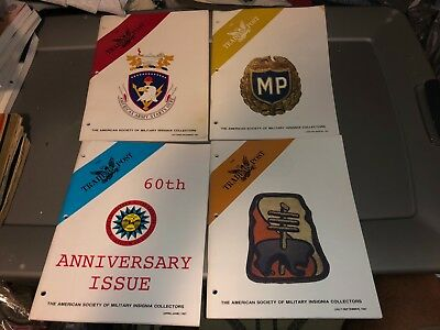 4 1997 Issues ASMIC American Society Military INSIGNIA Collector Reference Books