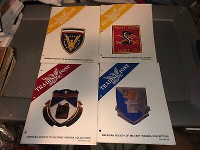 4 1990 Issues ASMIC American Society Military INSIGNIA Collector Reference Books