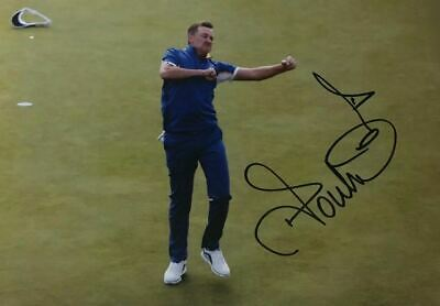 Ian Poulter Signed 16X12 Photo Ryder Cup Legend Private SIGNING AFTAL COA (F)