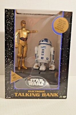 STAR WARS 1995 Electronic Talking Bank Vintage NEW in BOX - C-3PO R2-D2 Droids
