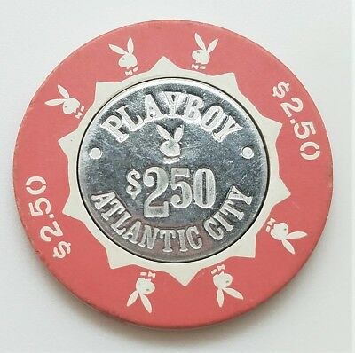 Playboy Club $2.50 Casino Chip Atlantic City New Jersey House Mold Coin Inlay