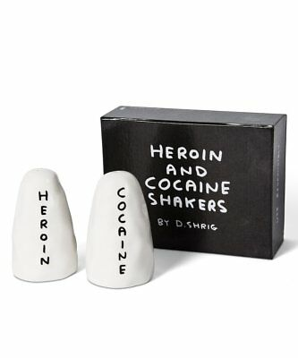 Salt and Pepper Shakers - David Shrigley Heroin and Cocaine