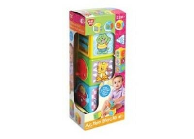 Brightly Coloured Action Blocks - For Ages 12 Months +