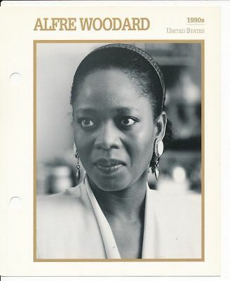 "AKFRE WOODARD MOVIE STAR ENCYCLOPEDIA 5 3/4"" X 7"" CARD-1990s"