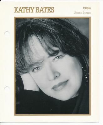 "KATHY BATES MOVIE STAR ENCYCLOPEDIA 5 3/4"" X 7"" CARD-1990s"