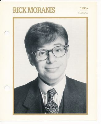 "RICK MORANIS MOVIE STAR ENCYCLOPEDIA 5 3/4"" X 7"" CARD-1990s"