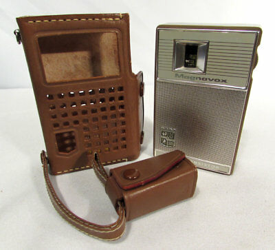 Vintage Magnavox 2-AM-70 Tan Brown Seven Transistor Pocket Radio w/Case