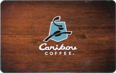 Caribou Coffee Gift Card (No $  Value)  New Logo On Wood