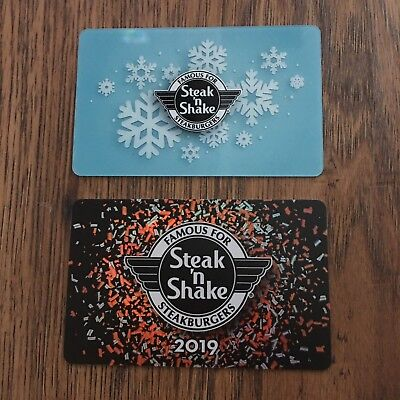 Steak 'n Shake 2018 Holiday Gift Cards Collectible No Value NEW