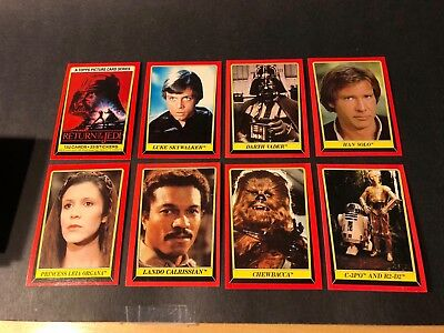 1983 Return of the Jedi Series (Red) Card Set of 132 cards and 32 Stickers