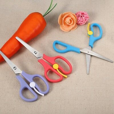 3 Color Baby Food Scissors Easy Clean Portable Stainless Steel Food Cutter Tool