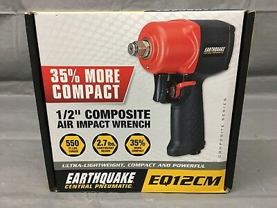"""New, Central Pneumatic Earthquake Eq12Cm 1/2"""" Composite Air Impact Wrench-"""