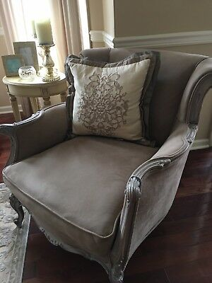 Vintage French Country Carved Accent Chair-Must See!