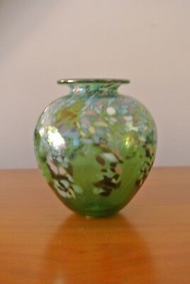 Kenwick Galleries  Art Glass Vase  ~ Maker Unknown.