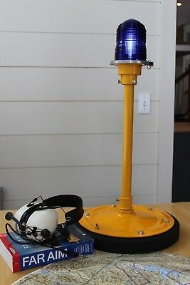 Authentic taxiway desk lamp - unique aviation gift - all new parts (no salvage)