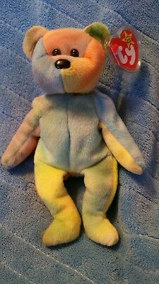 Ty beanie babies Garcia Lots of blue and yellow with a green left ear