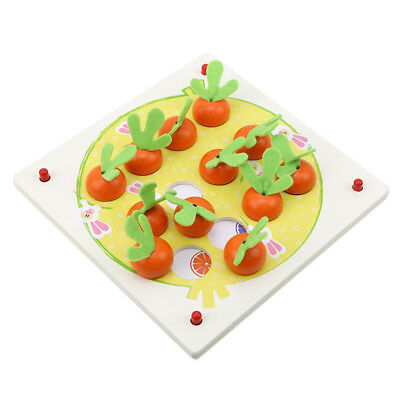 Children 3D Wooden Carrot Puzzle Tangram Puzzle Board Early Educational Toys LG