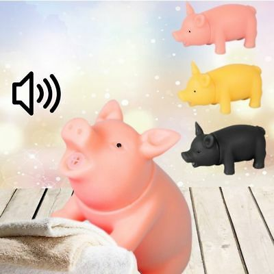 1PC Mini Cute Pet Puppy Chew Squeaker Squeaky Rubber Sound Pig Funny Relax Toys