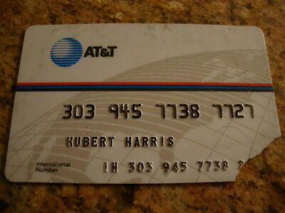 Rare Vintage AT&T International Calling CREDIT CARD (EXPIRED) - Damaged