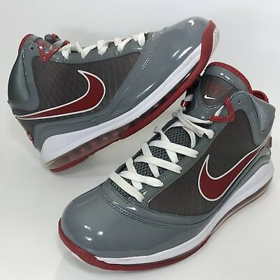 131fc4ae063f7 Nike Air Max Lebron VII 7 TB OSU Cool Grey Varsity Red Men s Size 10.5
